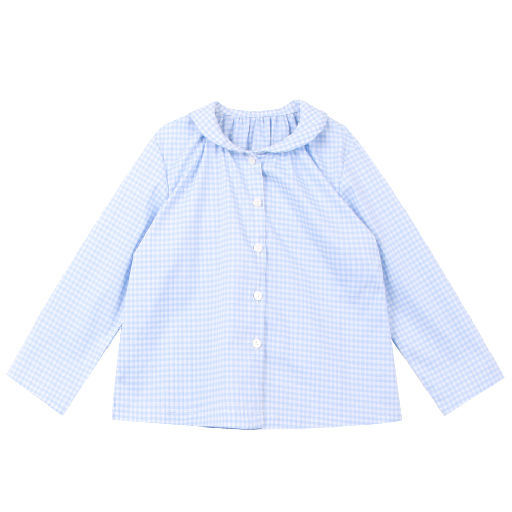 20 S/S Shirring shirt - blue