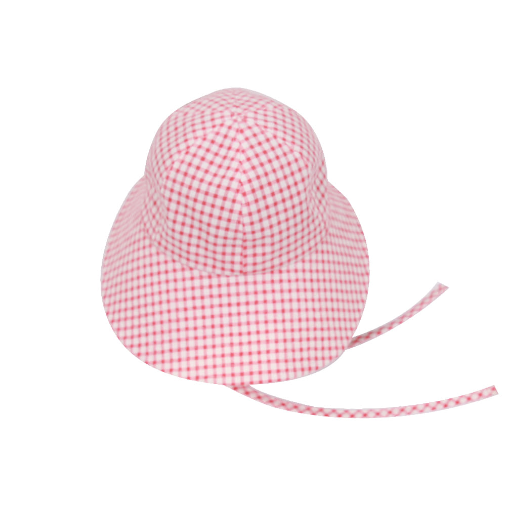 20 Summer linen hat - check