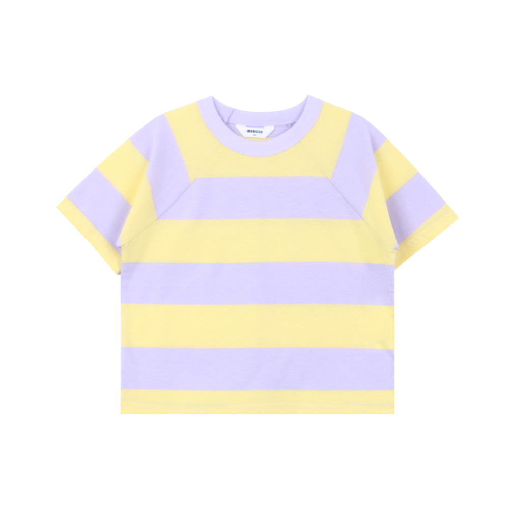 20 summer stripe t - shirt - yellow (3차 입고, 당일발송)