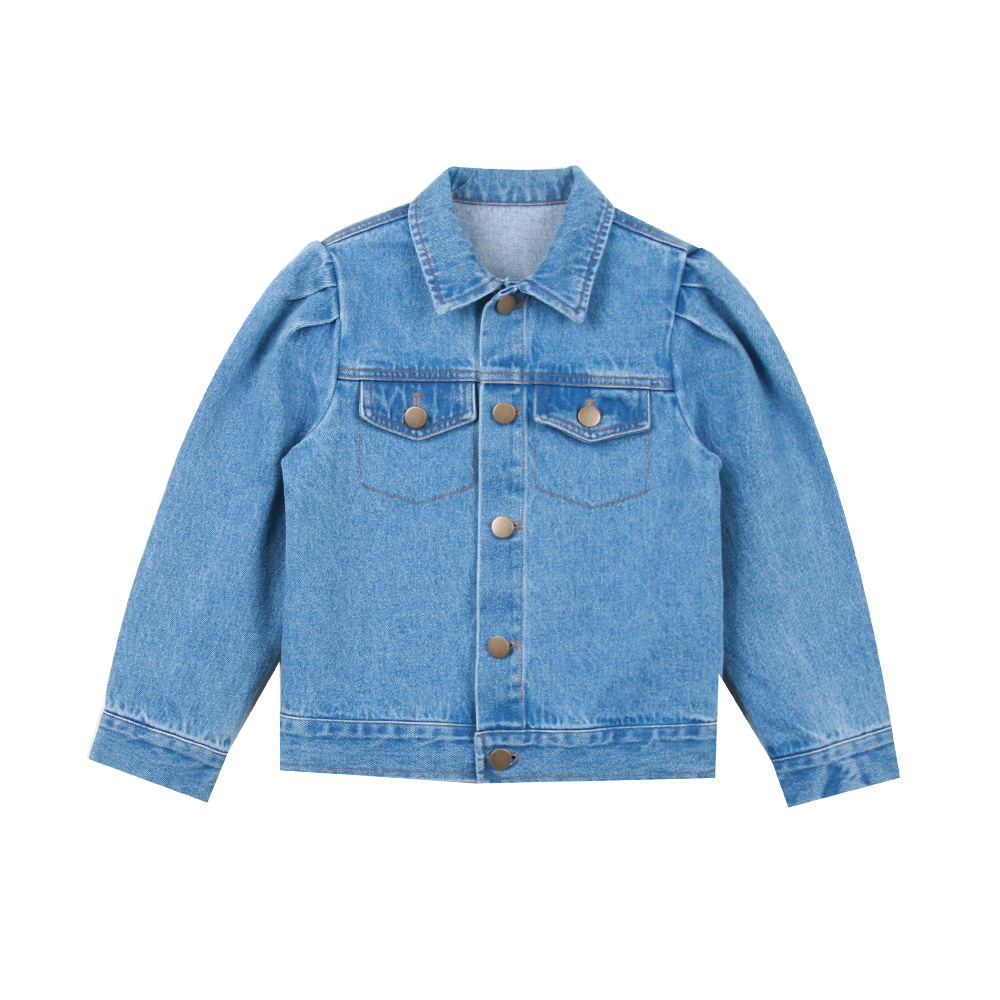 Puff denim jacket