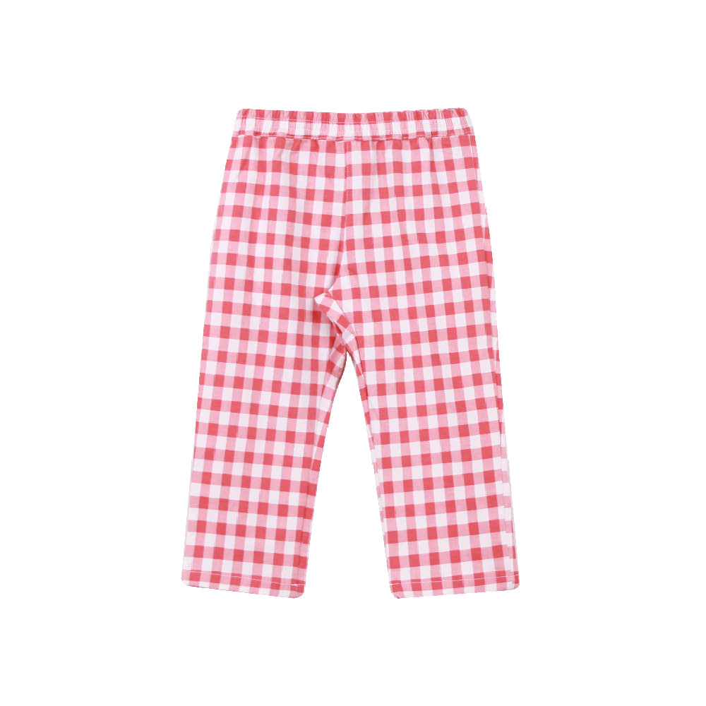 Red check pants